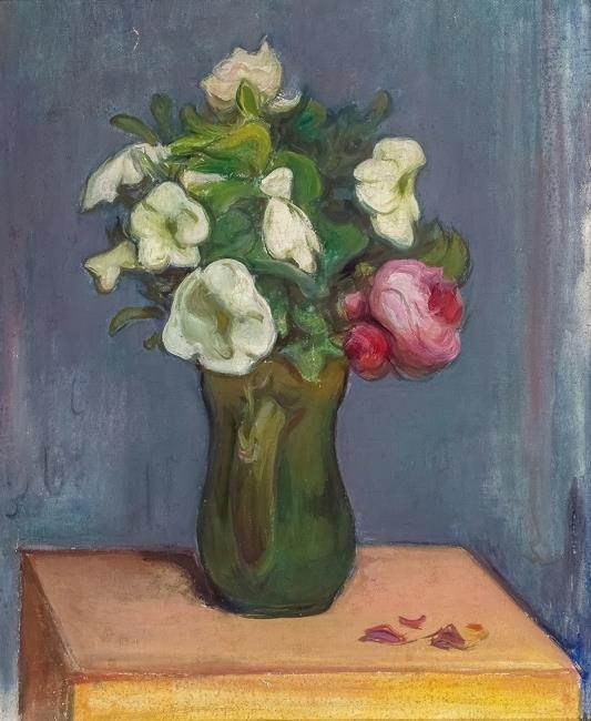 Władysław Ślewiński | Białe petunie i czerwone róże, ok. 1904 r.