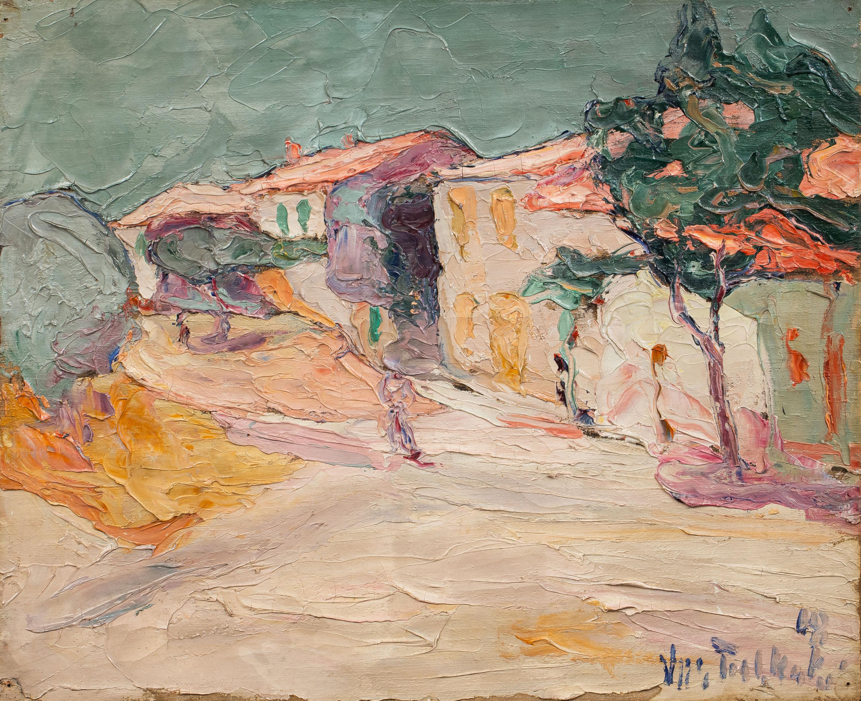 Włodzimierz Terlikowski | Pejzaż z willą, 1918 r.