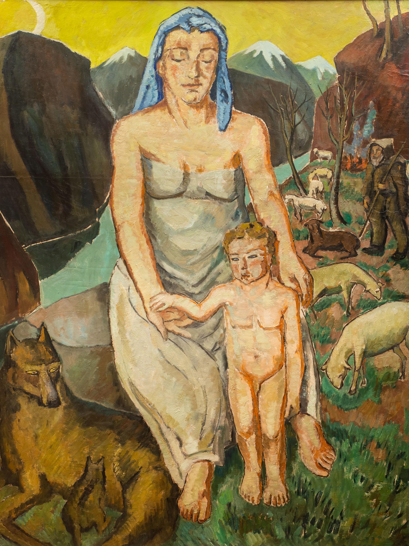 Mela Muter   Kobieta z dzieckiem, przed 1939 r.