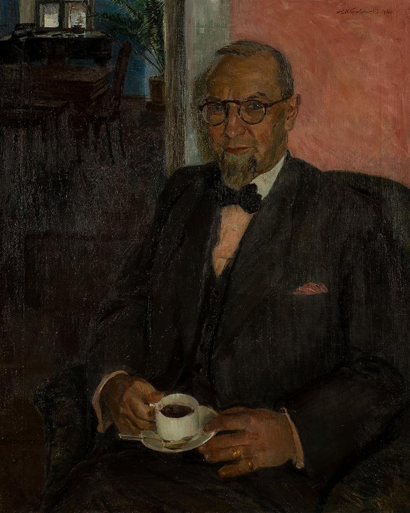 Aleksander Lech Kłopotowski | Portret Władysława Szabrańskiego z Bełchatowa (1880-1943) , 1940 r.