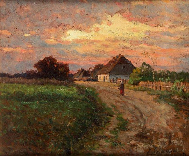Walery Brochocki   Polska wieś, 1893 r.
