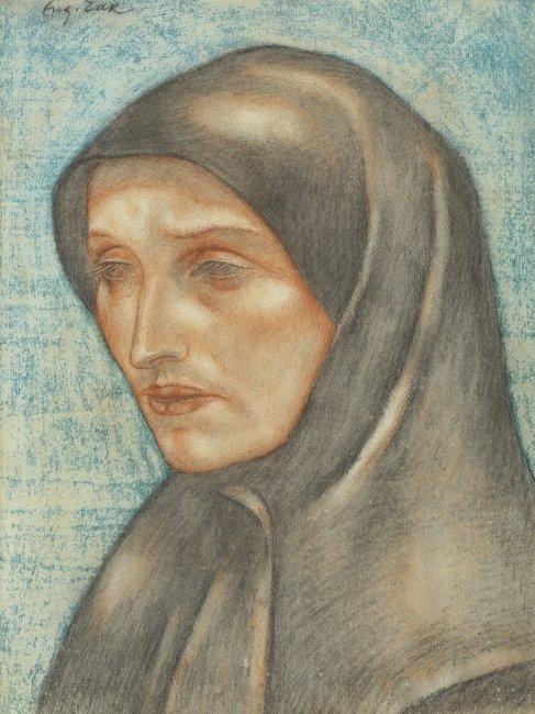 Eugeniusz Zak   Głowa mniszki, około 1912-13