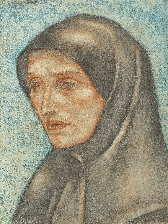 Eugeniusz Zak | Głowa mniszki, około 1912-13