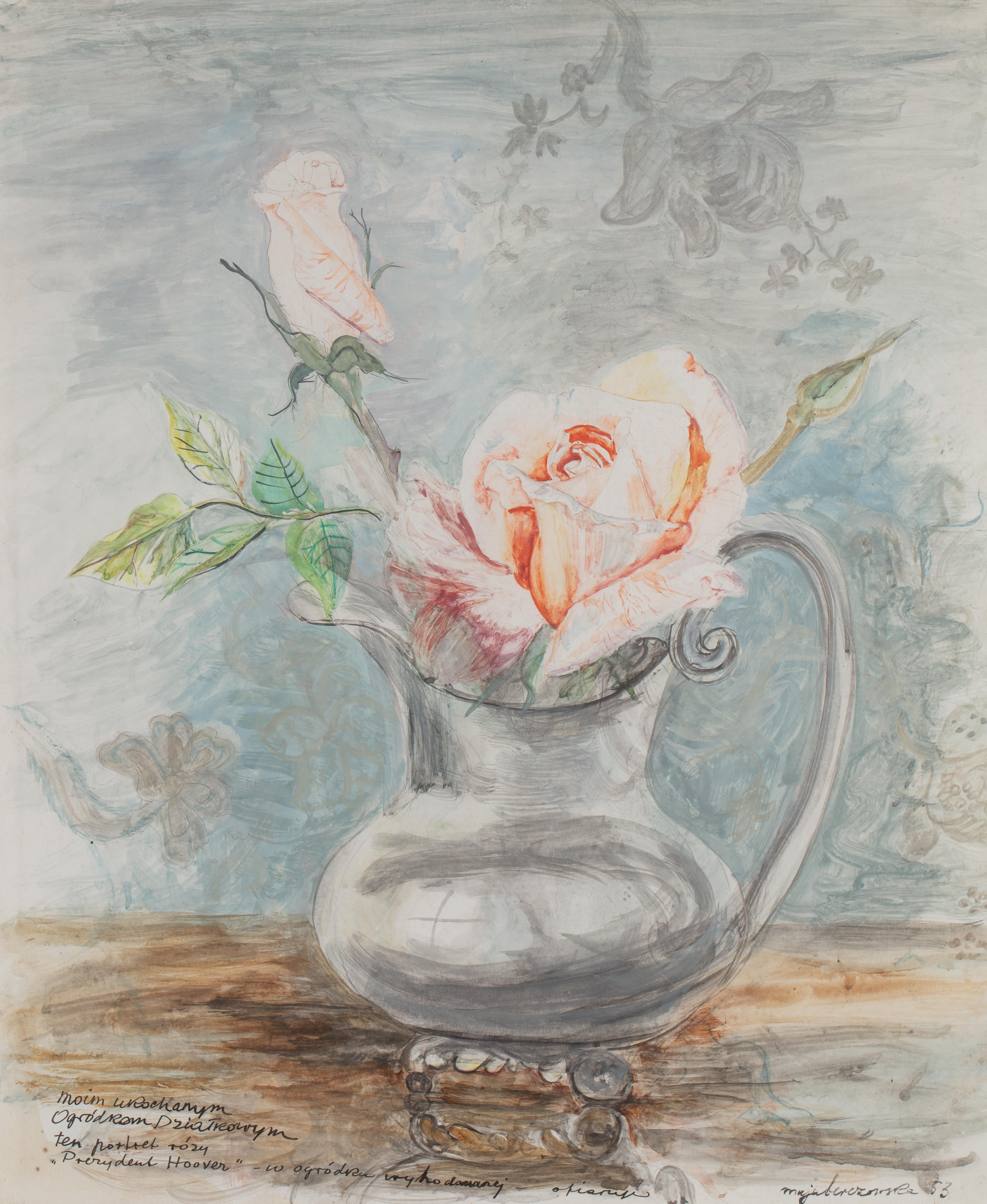 Maja Berezowska   Kwiaty w wazonie