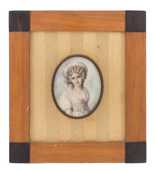 Miniatura - Portret damy w kapeluszu, 1981 r.